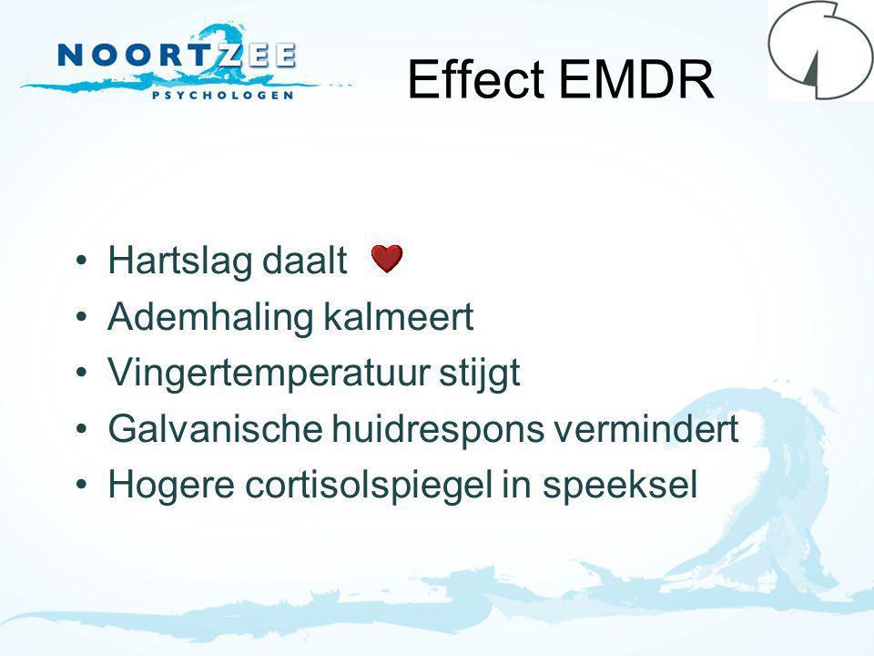 Effect EMDR Hartslag daalt Ademhaling kalmeert