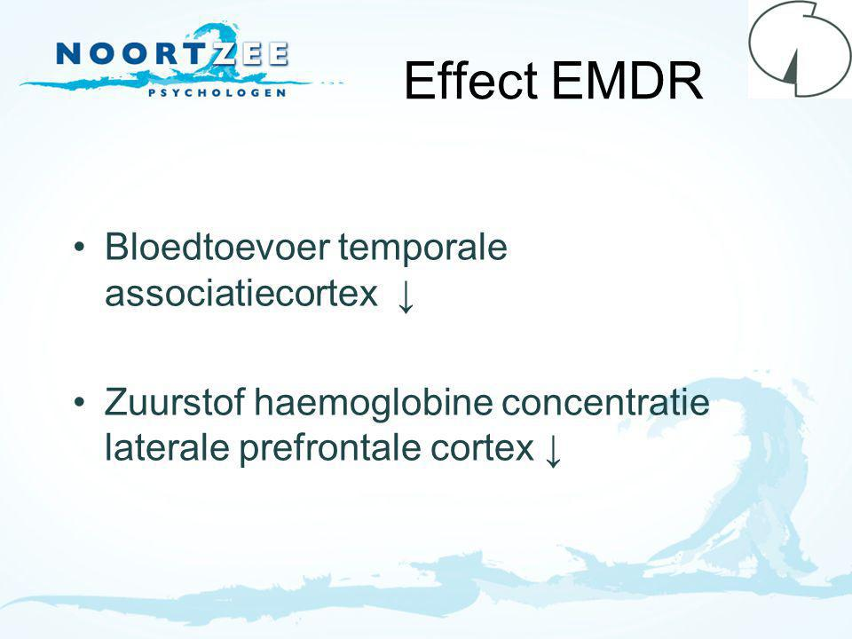 Effect EMDR Bloedtoevoer temporale associatiecortex ↓