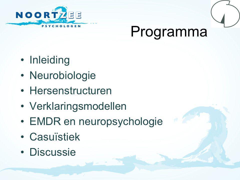 Programma Inleiding Neurobiologie Hersenstructuren Verklaringsmodellen