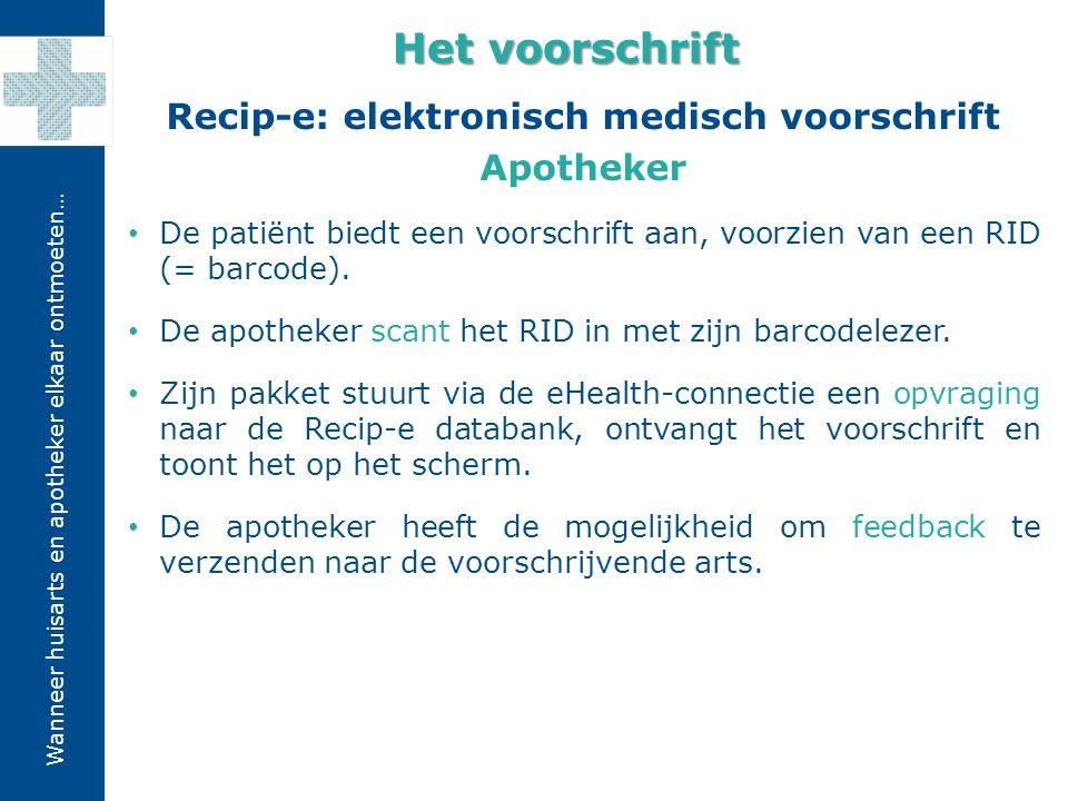 Recip-e: elektronisch medisch voorschrift