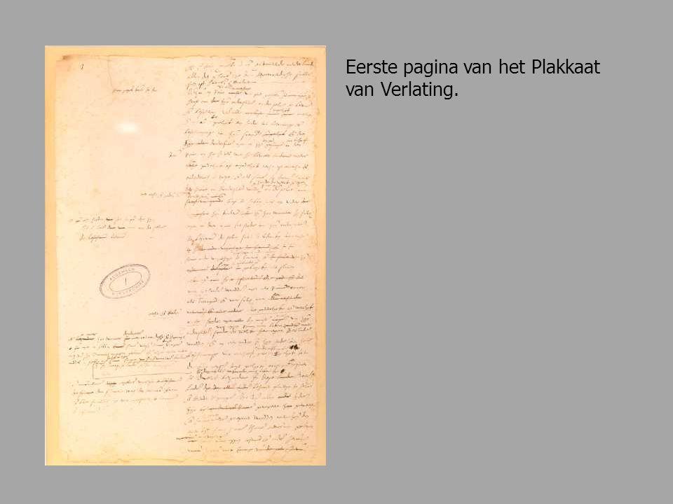 Eerste pagina van het Plakkaat van Verlating.