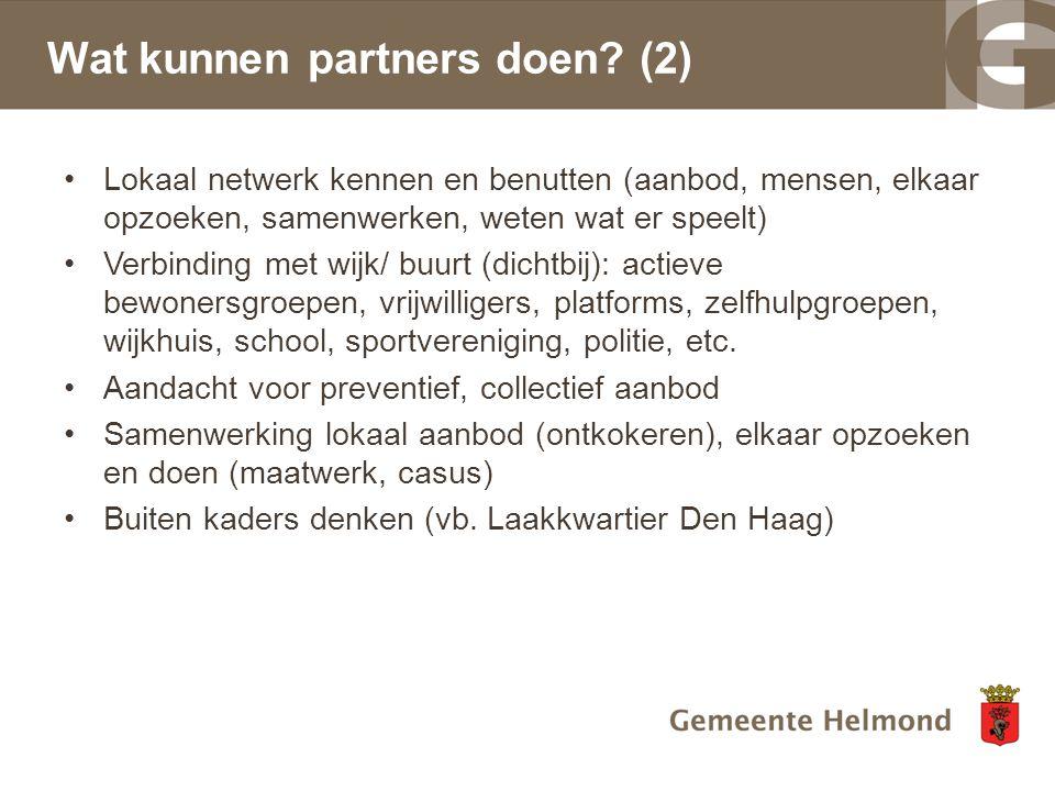 Wat kunnen partners doen (2)