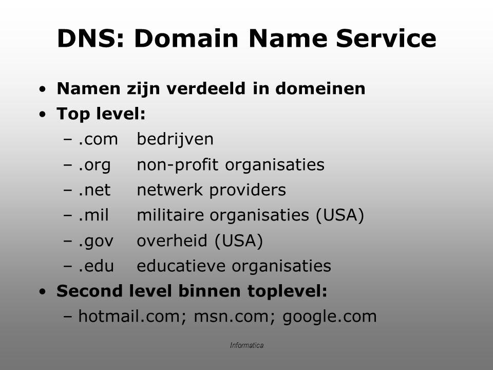 DNS: Domain Name Service