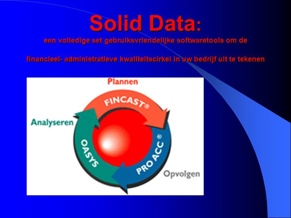 Solid Data: een volledige set gebruiksvriendelijke softwaretools om de financieel- administratieve kwaliteitscirkel in uw bedrijf uit te tekenen