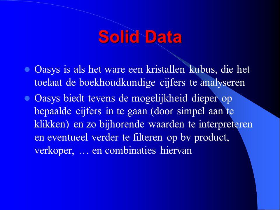 Solid Data Oasys is als het ware een kristallen kubus, die het toelaat de boekhoudkundige cijfers te analyseren.