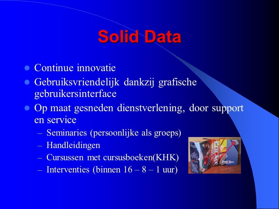 Solid Data Continue innovatie