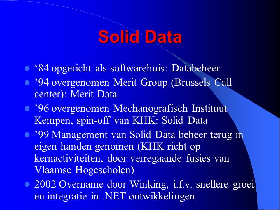 Solid Data '84 opgericht als softwarehuis: Databeheer