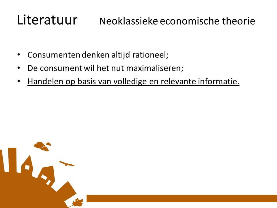 Literatuur Neoklassieke economische theorie