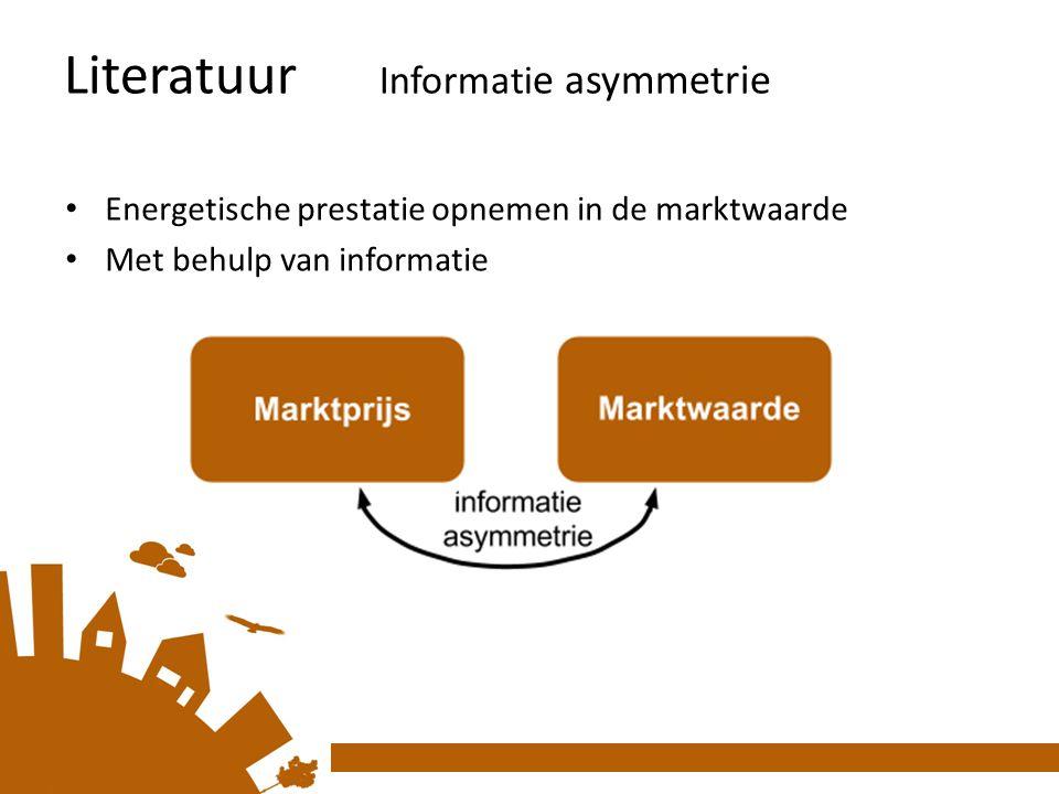 Literatuur Informatie asymmetrie