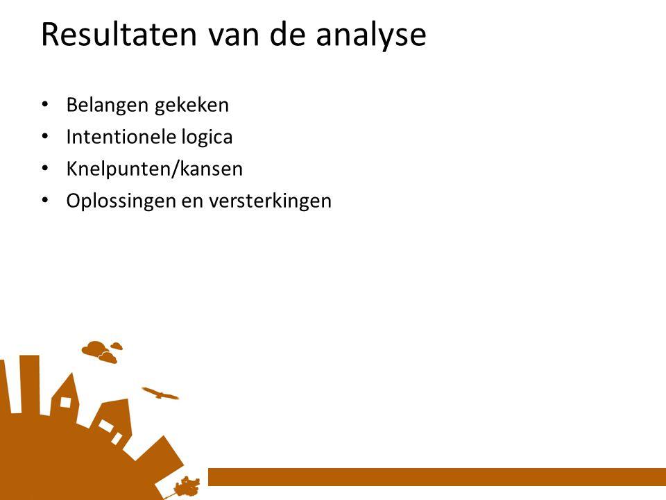 Resultaten van de analyse