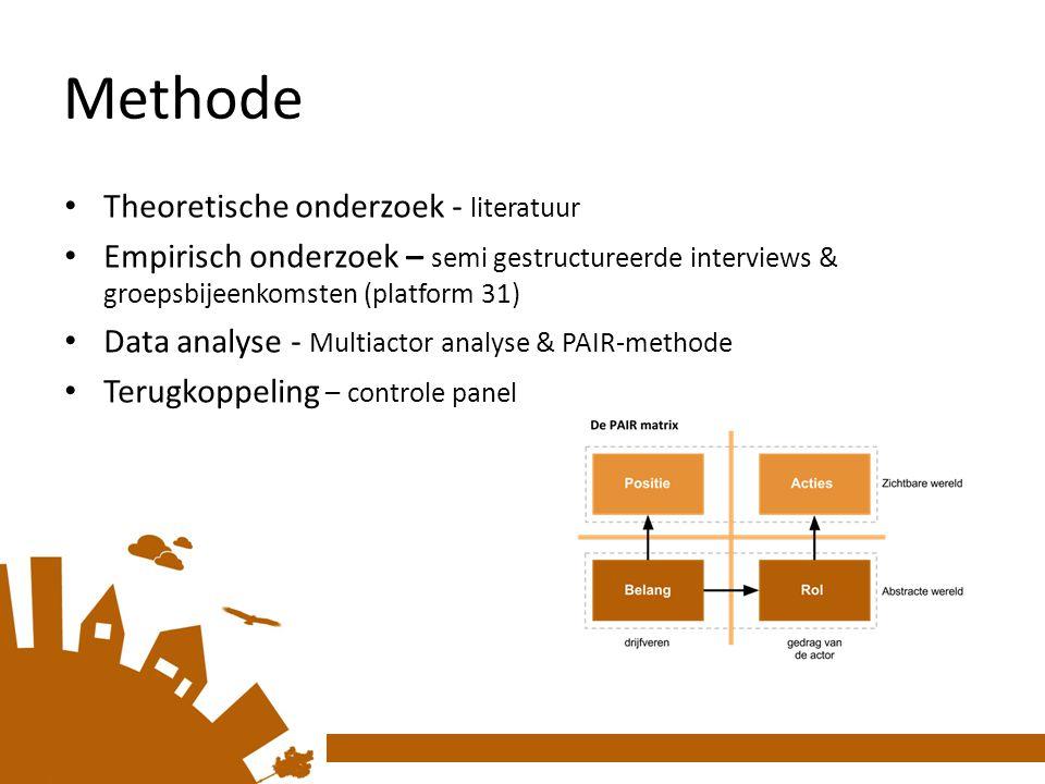 Methode Theoretische onderzoek - literatuur