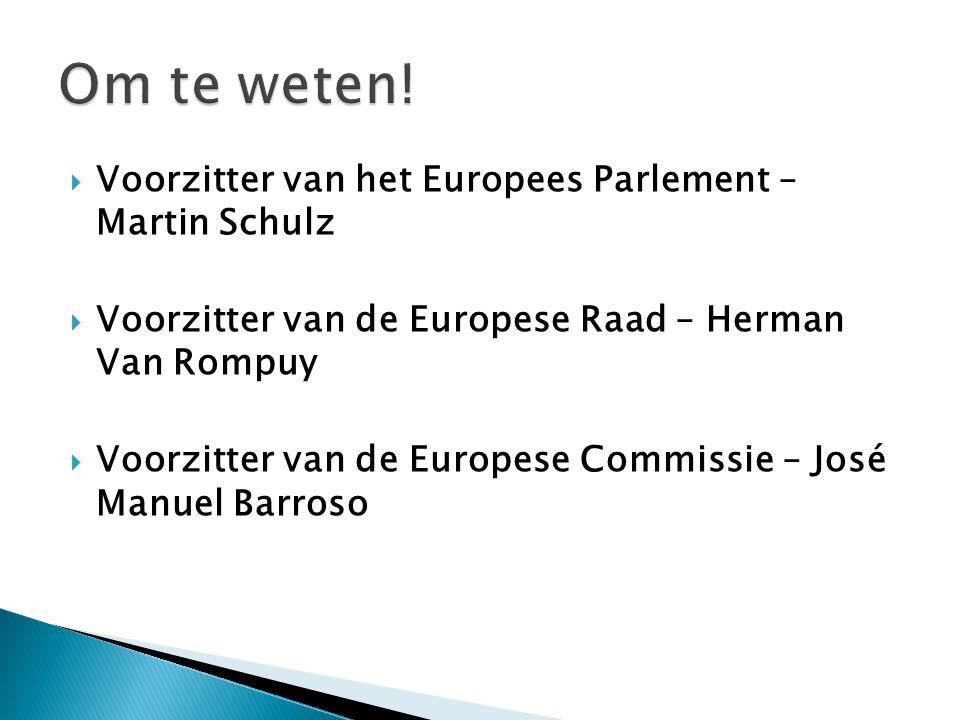 Om te weten! Voorzitter van het Europees Parlement – Martin Schulz