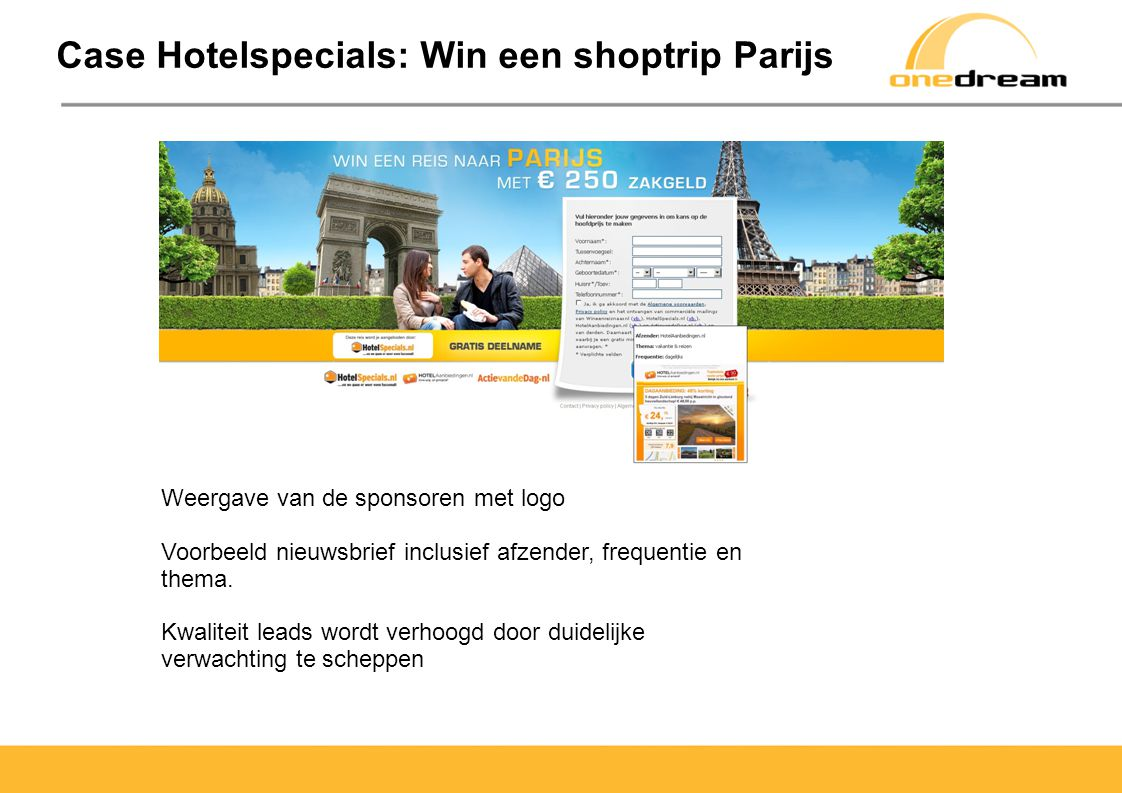 Case Hotelspecials: Win een shoptrip Parijs
