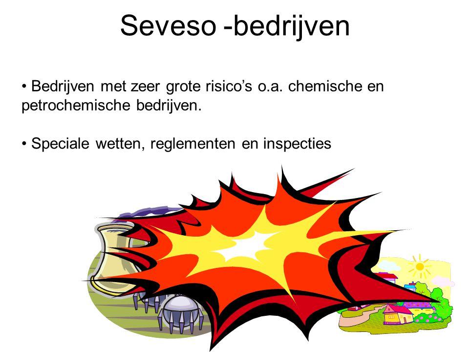 Seveso -bedrijven Bedrijven met zeer grote risico's o.a.