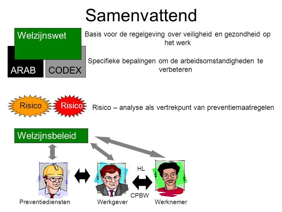 Samenvattend Welzijnswet CODEX ARAB Welzijnsbeleid Risico