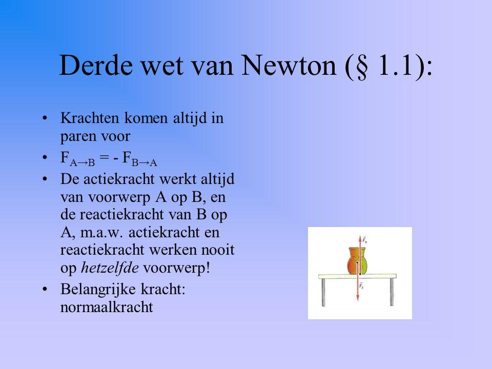 Derde wet van Newton (§ 1.1):