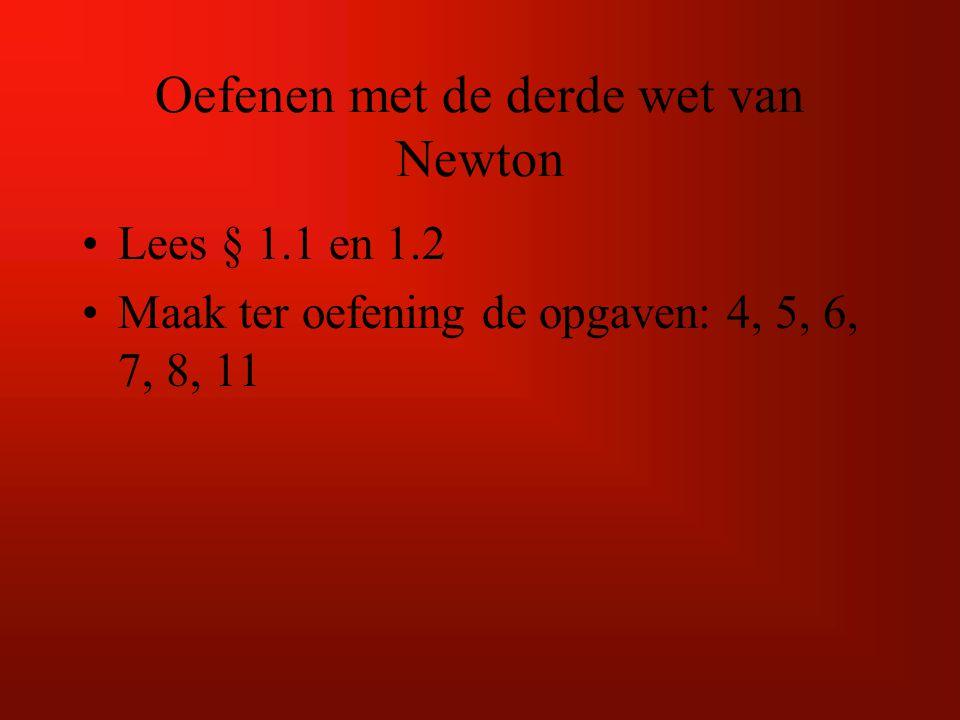 Oefenen met de derde wet van Newton