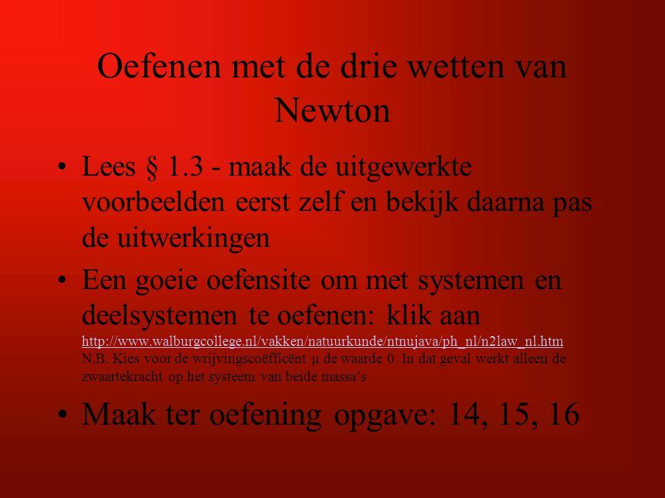Oefenen met de drie wetten van Newton