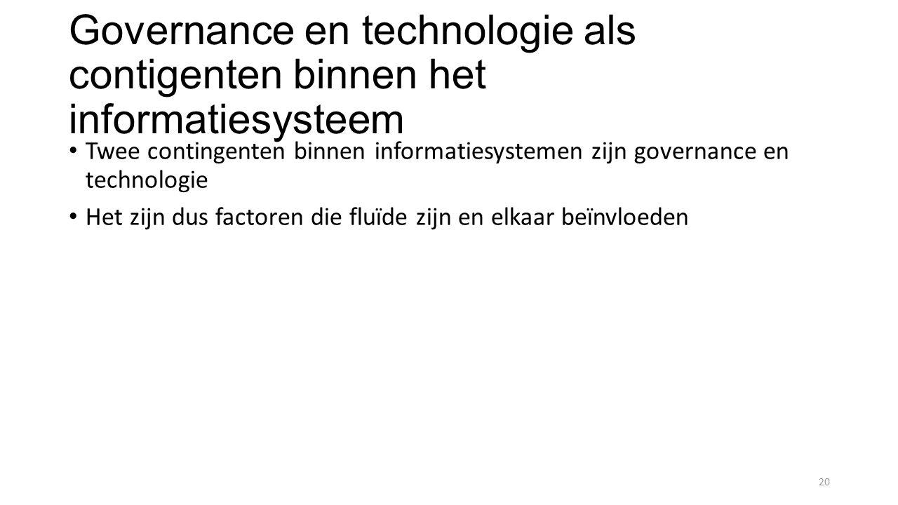 Governance en technologie als contigenten binnen het informatiesysteem