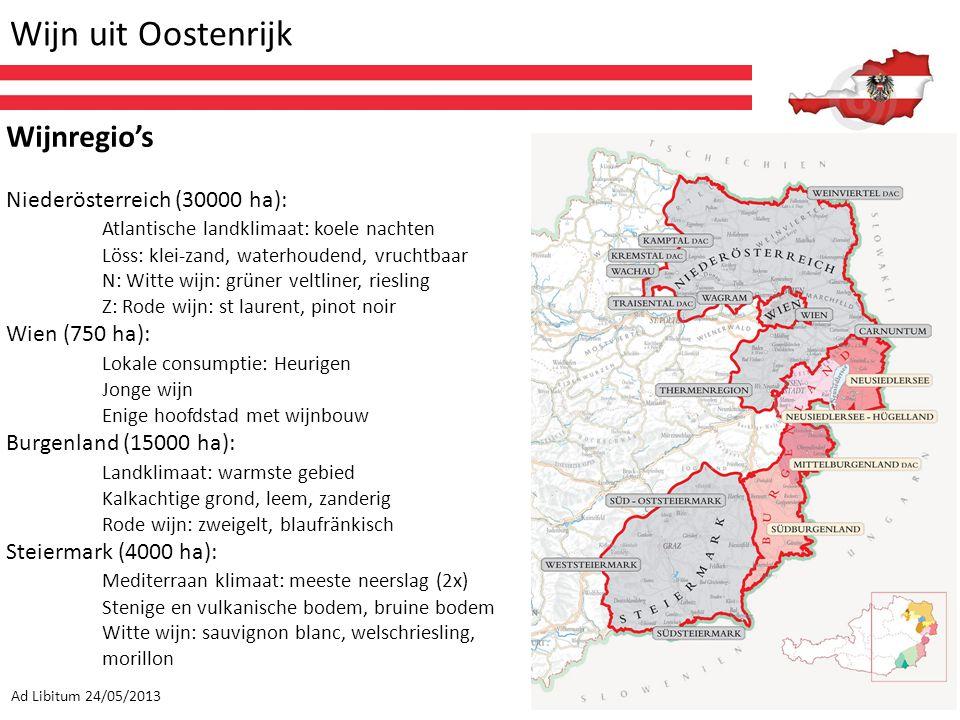 Wijn uit Oostenrijk Wijnregio's Niederösterreich (30000 ha):