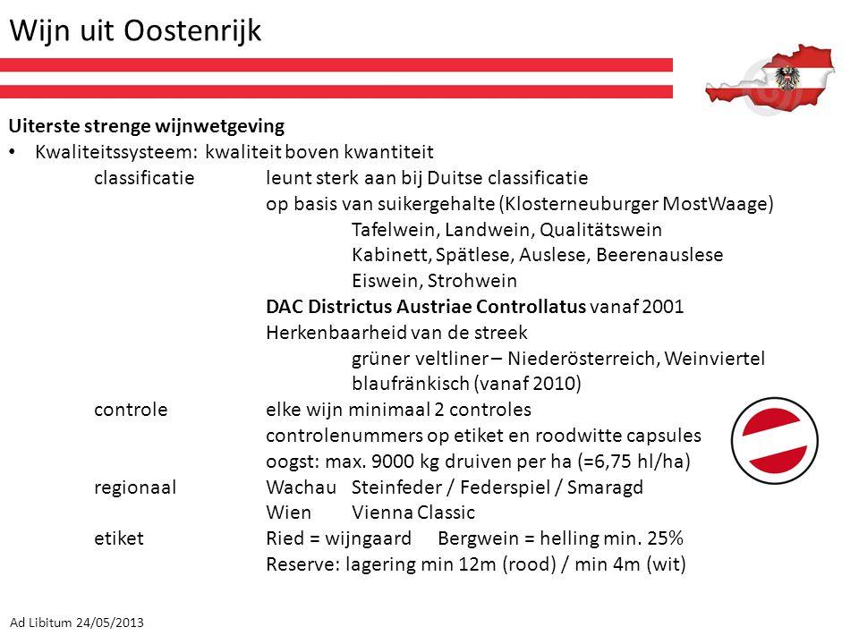 Wijn uit Oostenrijk Uiterste strenge wijnwetgeving