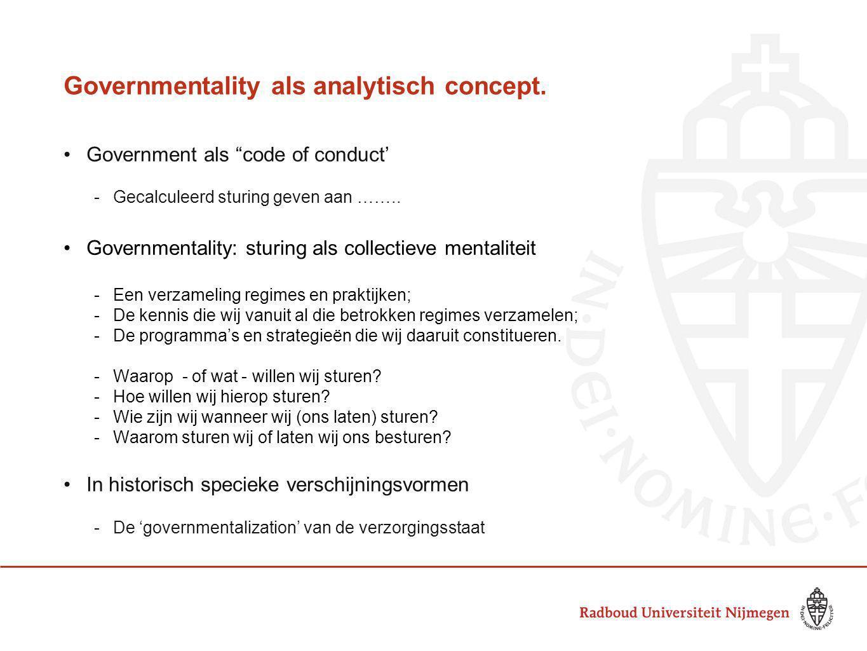Governmentality als analytisch concept.