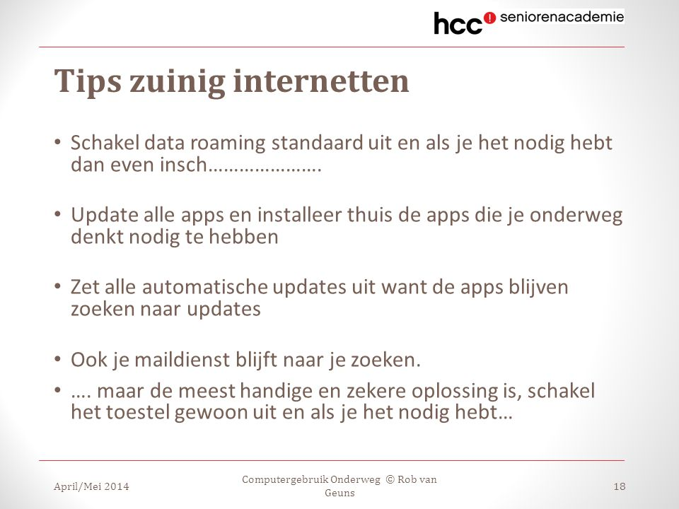 Tips zuinig internetten