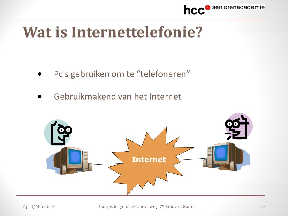 Wat is Internettelefonie