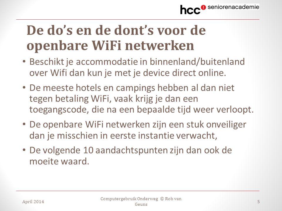 De do's en de dont's voor de openbare WiFi netwerken