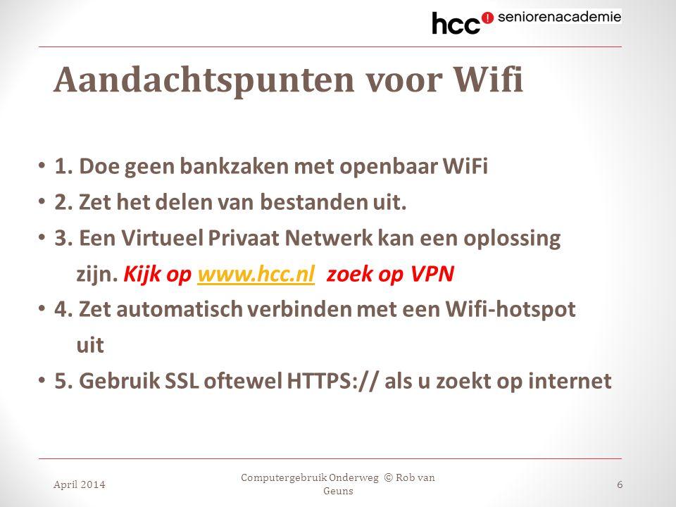 Aandachtspunten voor Wifi