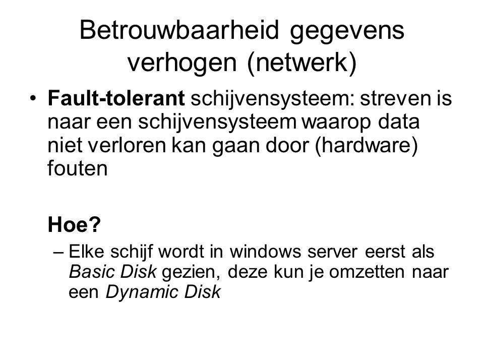 Betrouwbaarheid gegevens verhogen (netwerk)