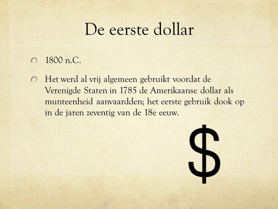 De eerste dollar 1800 n.C.