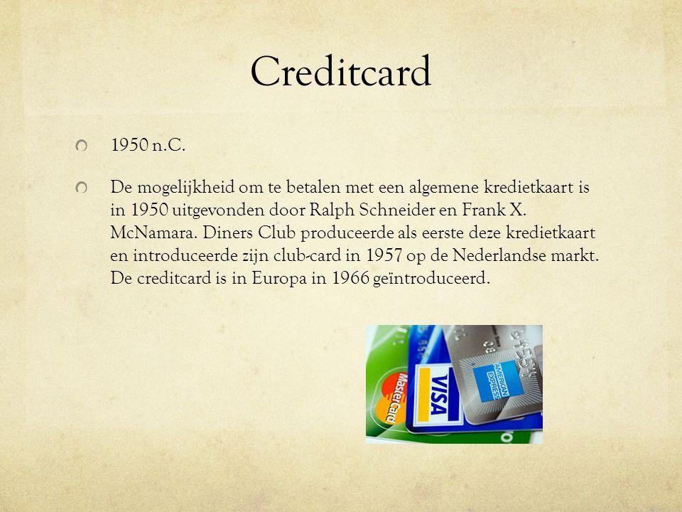 Creditcard 1950 n.C.