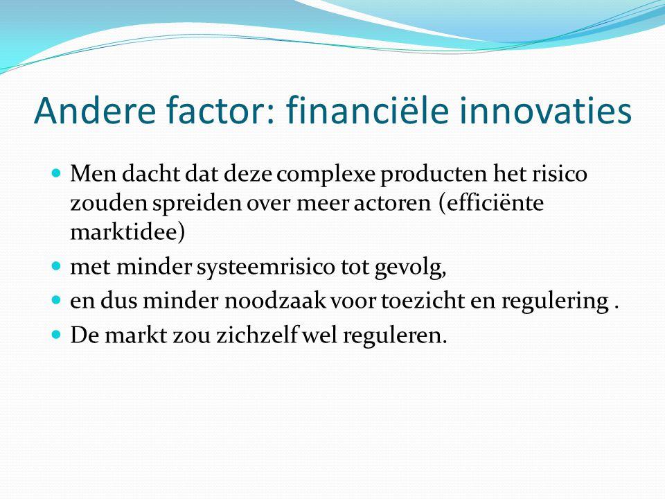 Andere factor: financiële innovaties