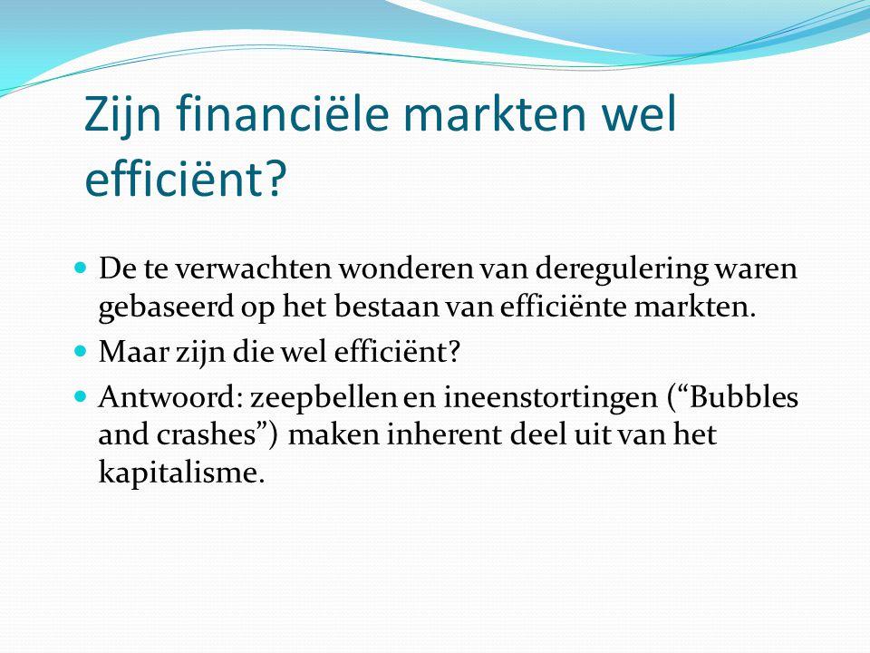 Zijn financiële markten wel efficiënt