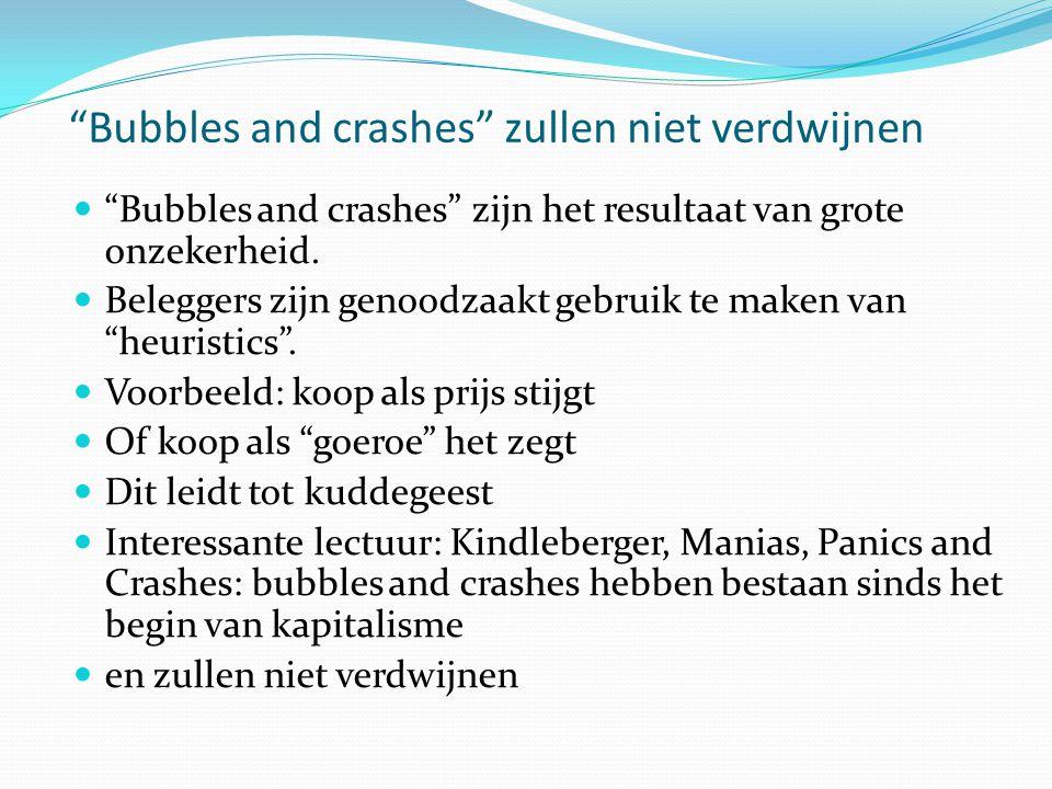 Bubbles and crashes zullen niet verdwijnen