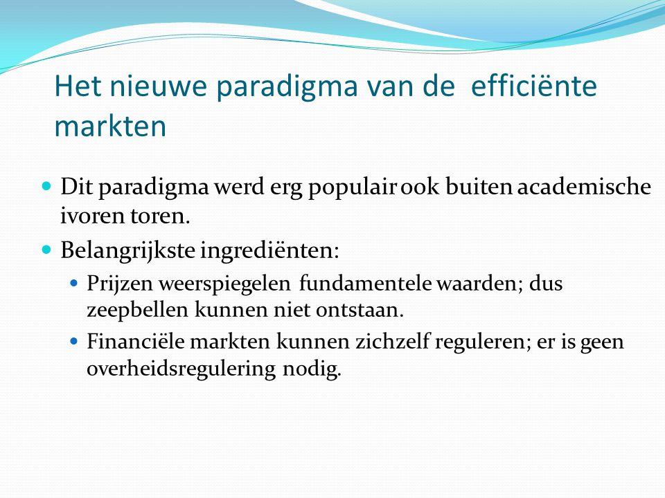 Het nieuwe paradigma van de efficiënte markten