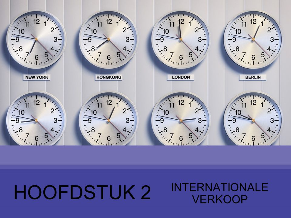 INTERNATIONALE VERKOOP