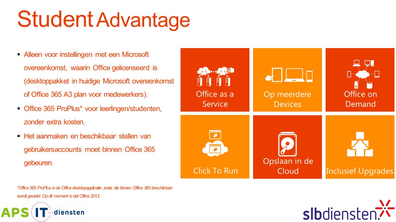 Student Advantage Office as a Service Op meerdere Devices