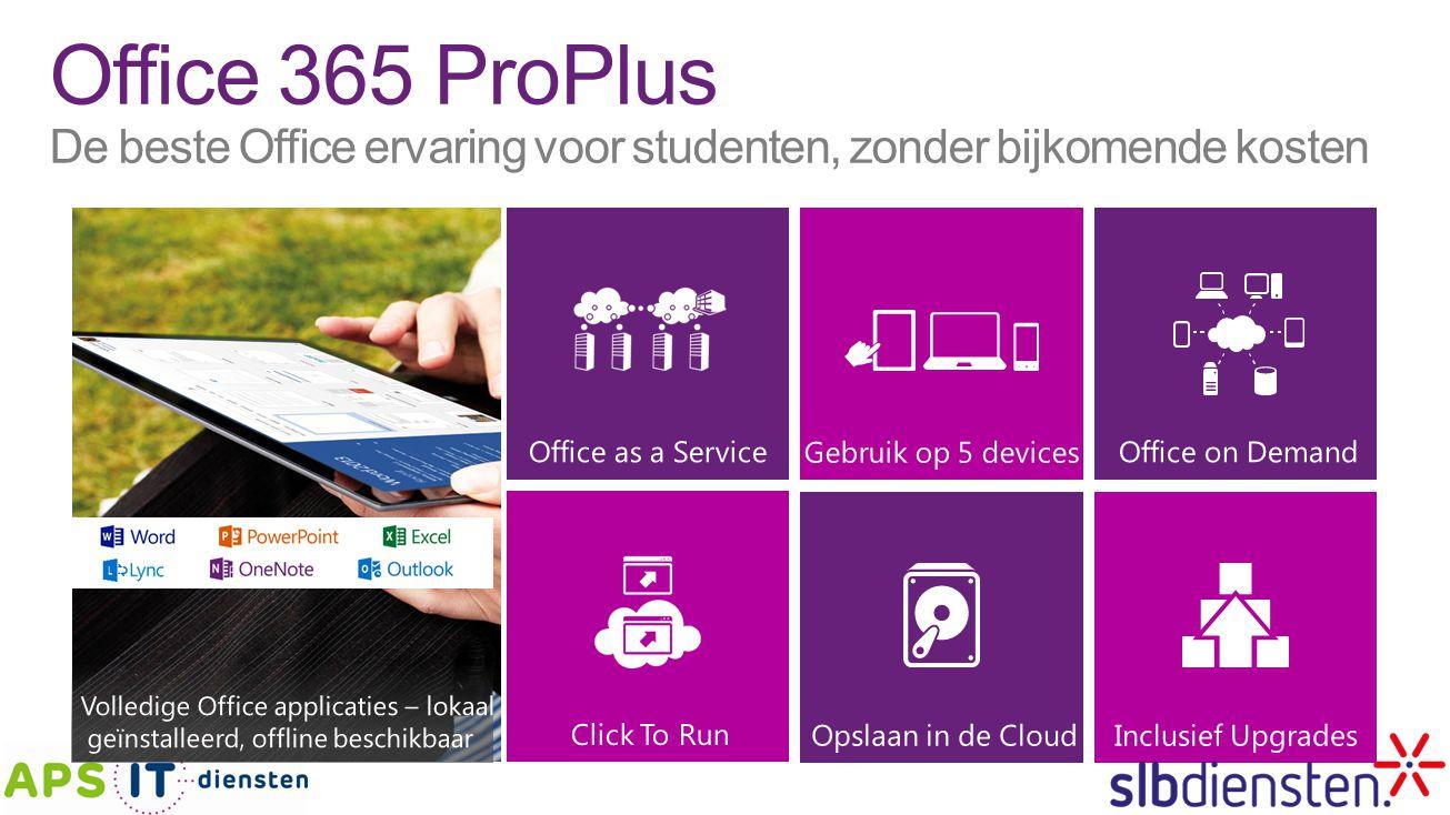 Office 365 ProPlus De beste Office ervaring voor studenten, zonder bijkomende kosten