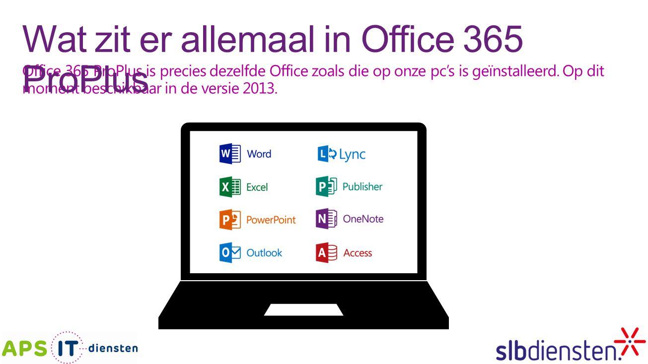 Wat zit er allemaal in Office 365 ProPlus