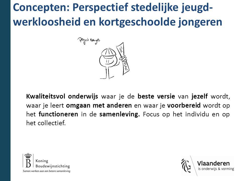 Concepten: Perspectief stedelijke jeugd- werkloosheid en kortgeschoolde jongeren