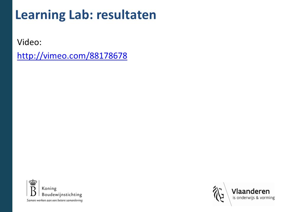 Learning Lab: resultaten