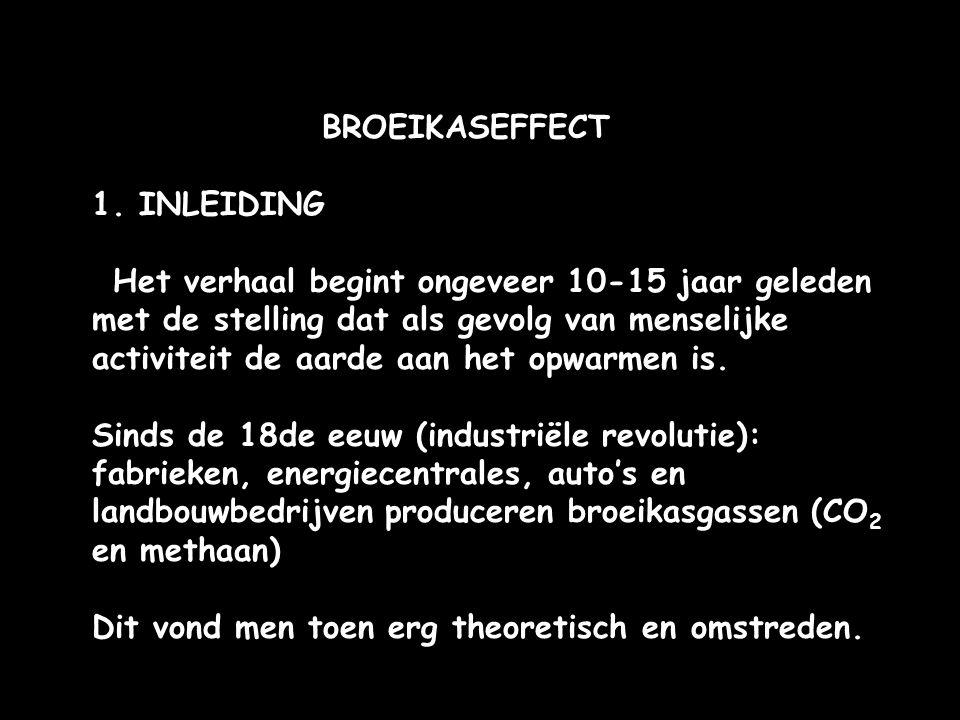 BROEIKASEFFECT 1. INLEIDING.