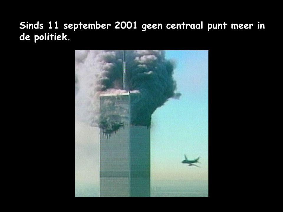 Sinds 11 september 2001 geen centraal punt meer in de politiek.