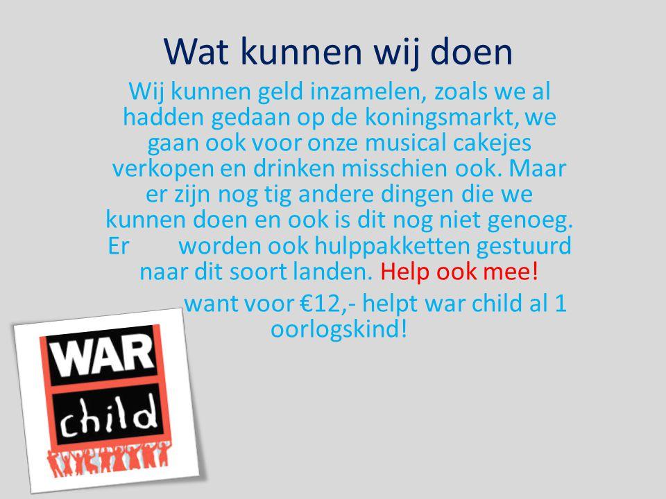 want voor €12,- helpt war child al 1 oorlogskind!