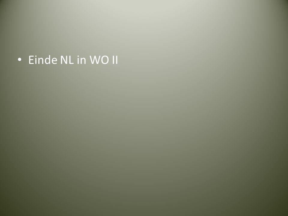 Einde NL in WO II