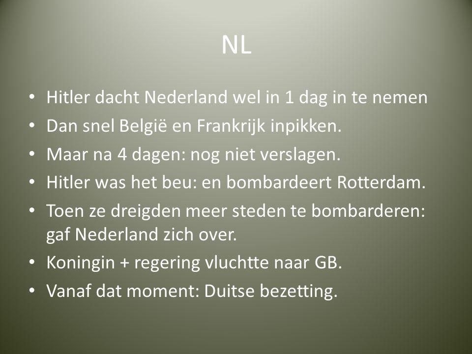 NL Hitler dacht Nederland wel in 1 dag in te nemen
