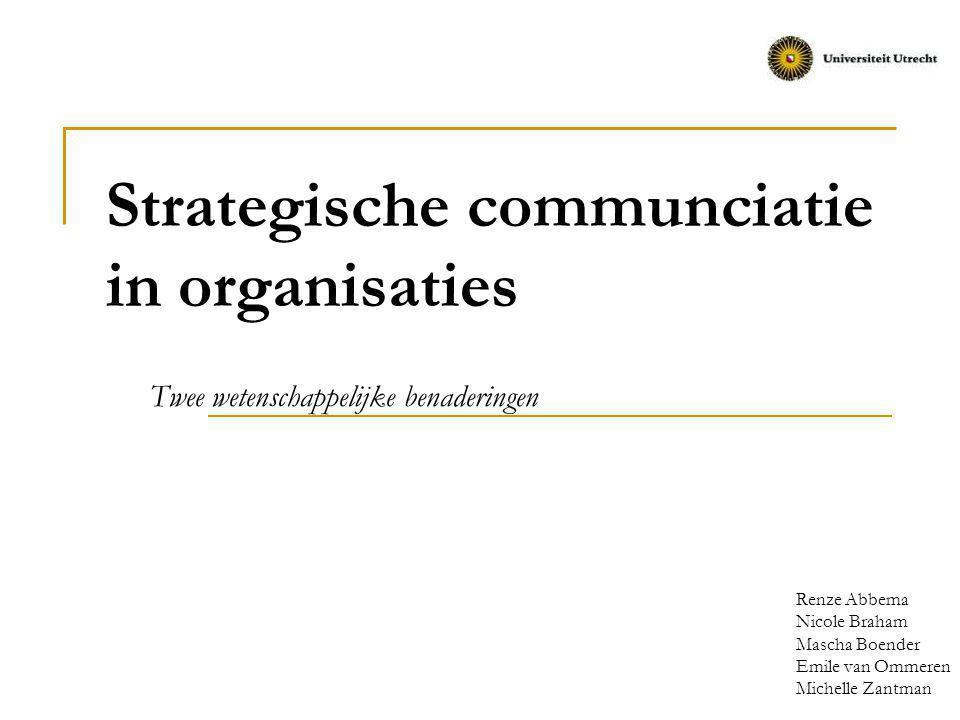 Strategische communciatie in organisaties