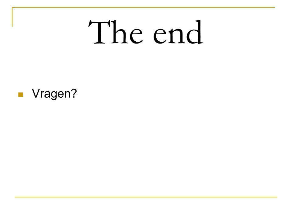 The end Vragen